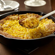 Peach and Corn Skillet Cobbler