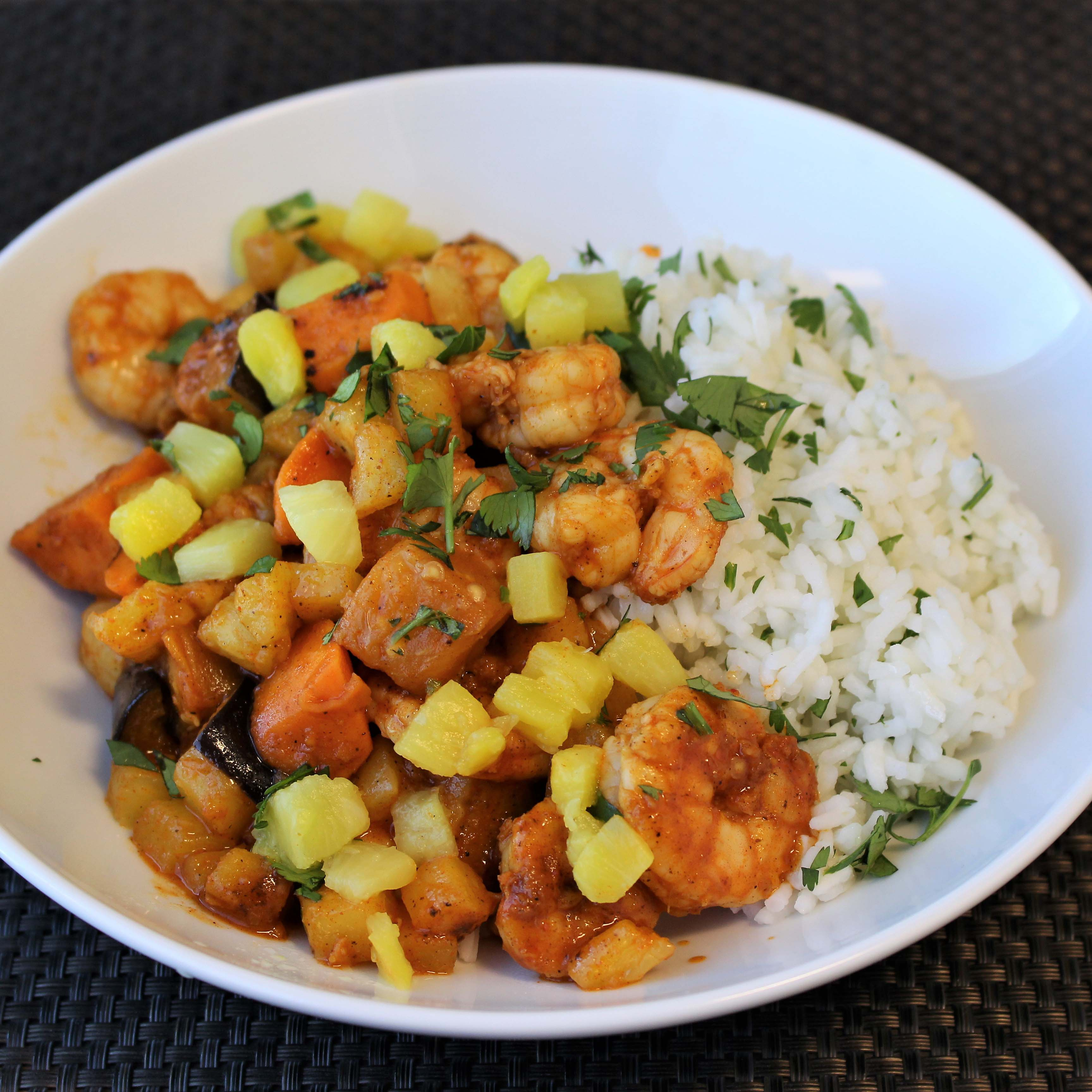 Piri Piri Shrimp and Pineapple Stir Fry