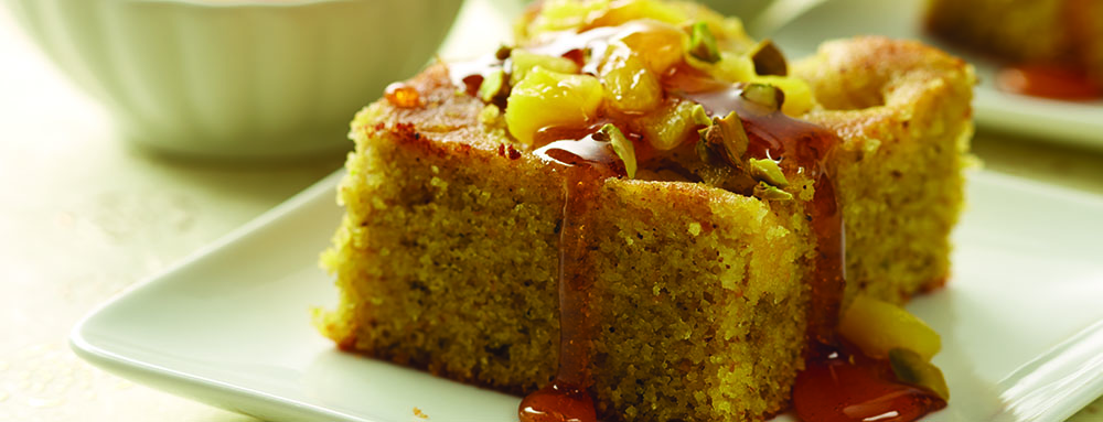 Photo of Pineapple and Pistachio Semolina Cake