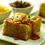 Pineapple and Pistachio Semolina Cake