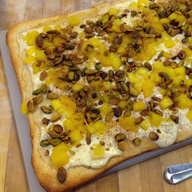 Pineapple Pistachio Pizza
