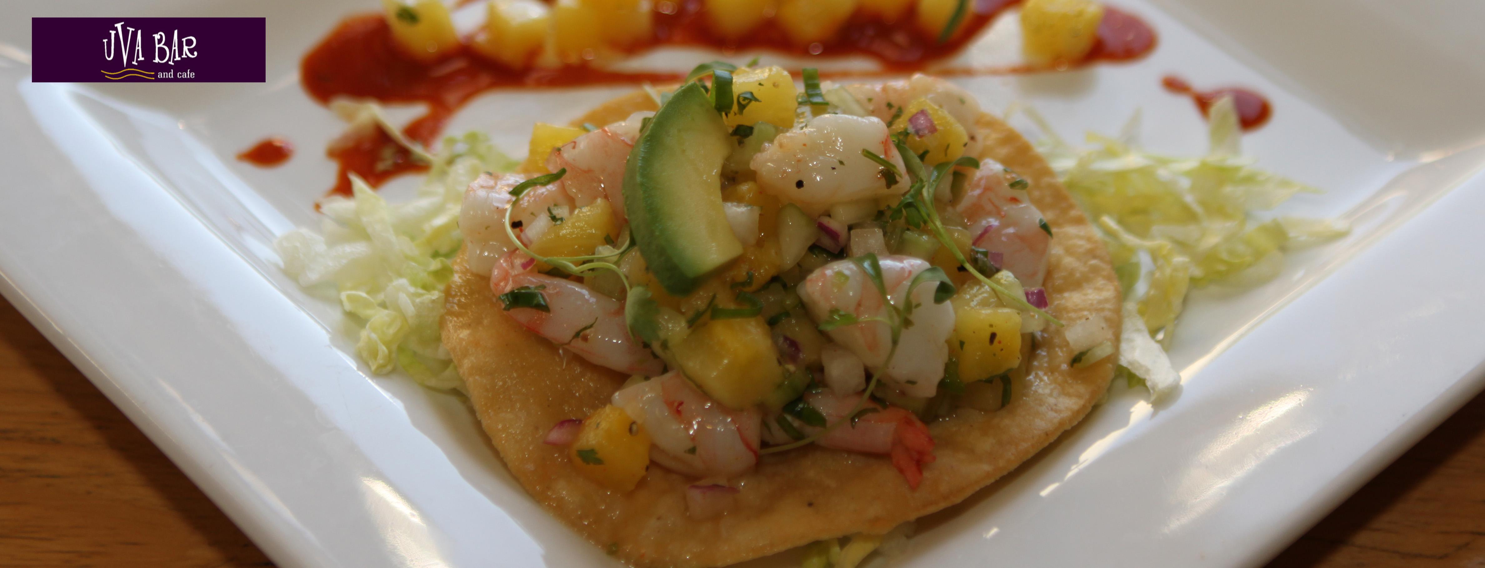 Photo of Pineapple Shrimp Ceviche Tostada