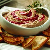 Raspberry Thyme Yogurt Hummus