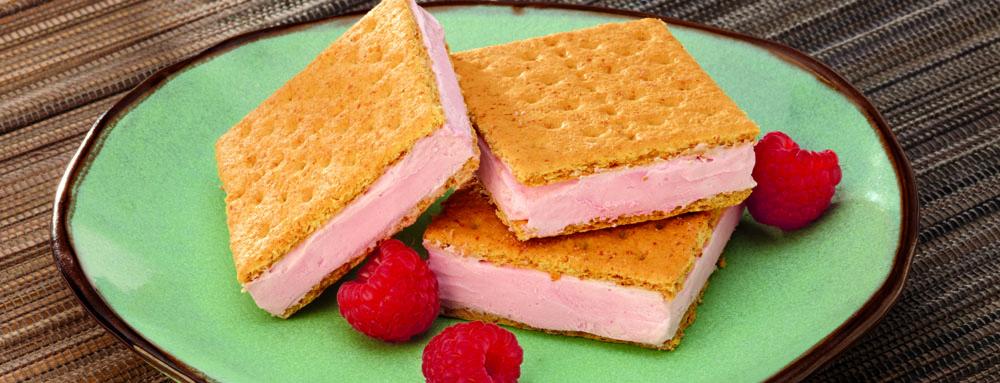 Photo of Raspberry Greek Yogurt Ice Cream Sandwiches