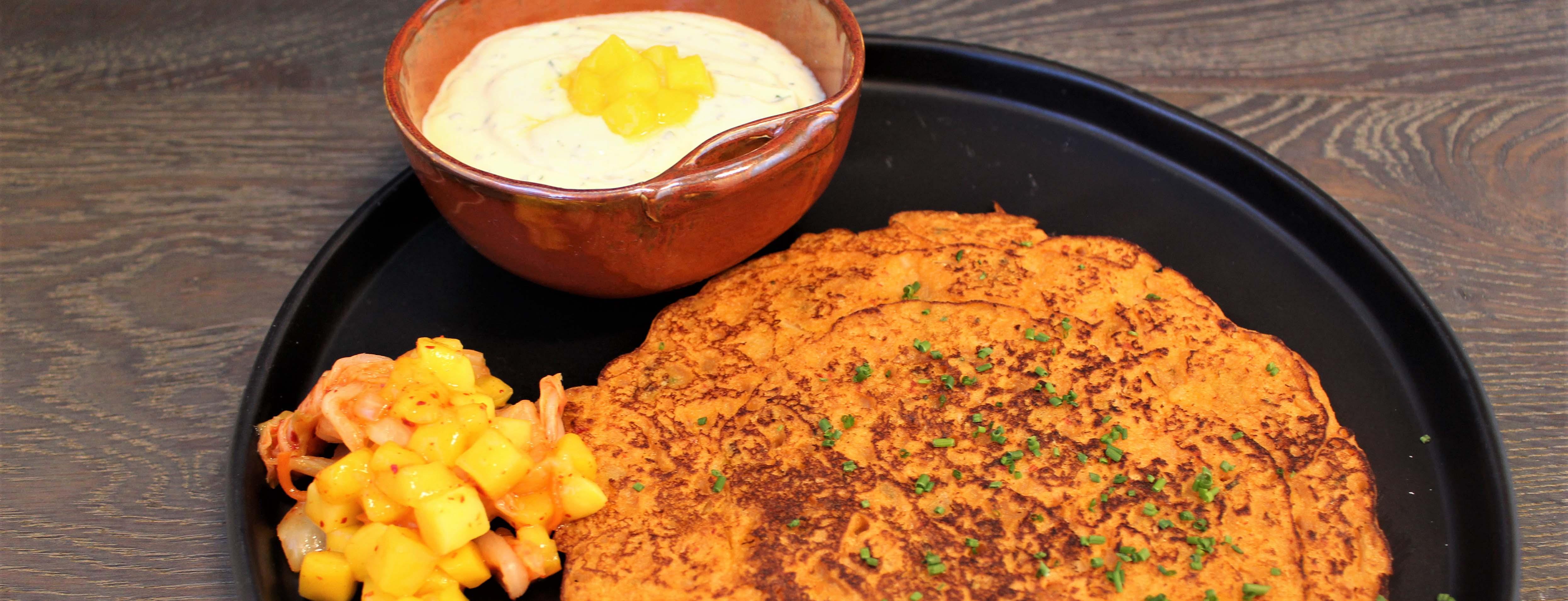 Photo of Red Papaya Kimchi Pancakes