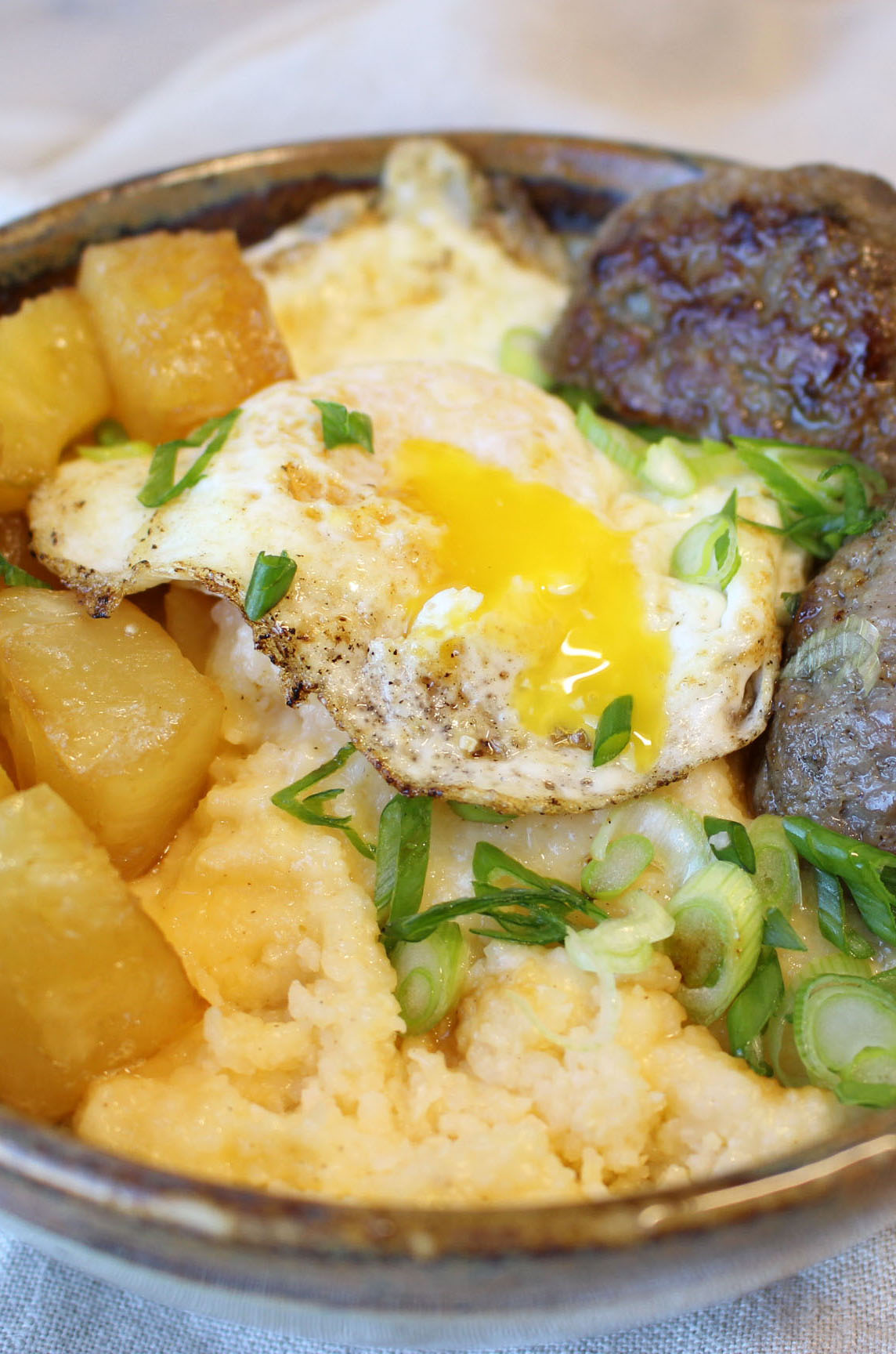 Photo of Sausage Pineapple and Grits Bowl
