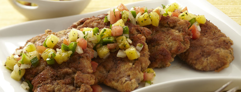 Photo of Steak Milanesa with Pina Criolla