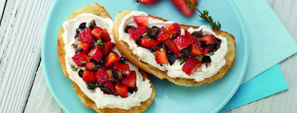 Photo of Strawberry and Olive Bruschetta with Goat Cheese