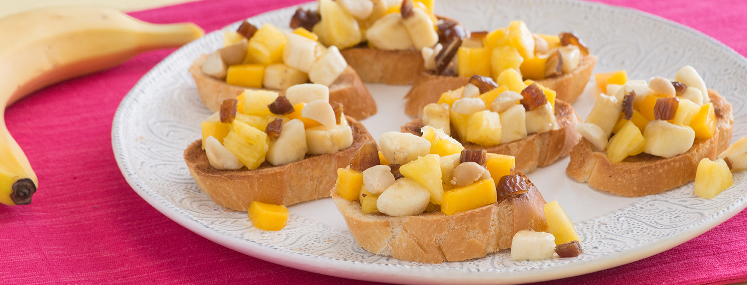 Photo of Tropical Banana Bruschetta