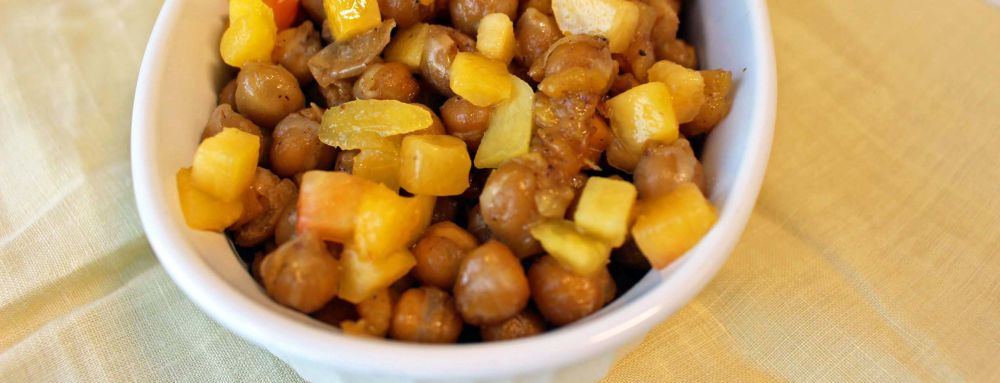 Photo of Candied Roasted Chickpeas Bowl with Peaches