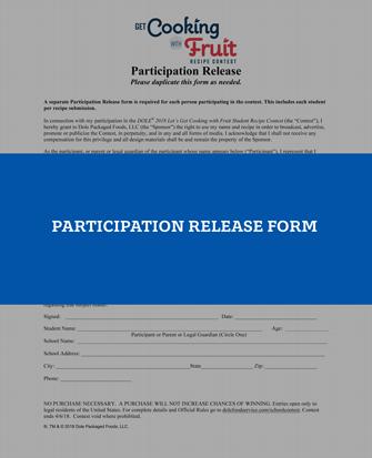 Contest participation form