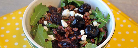 Farro Cherry Walnut Salad