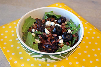 Farro Cherry and Walnut Salad