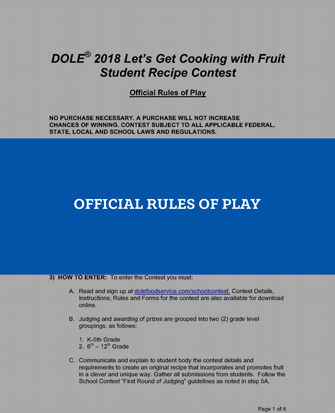 School contest rules