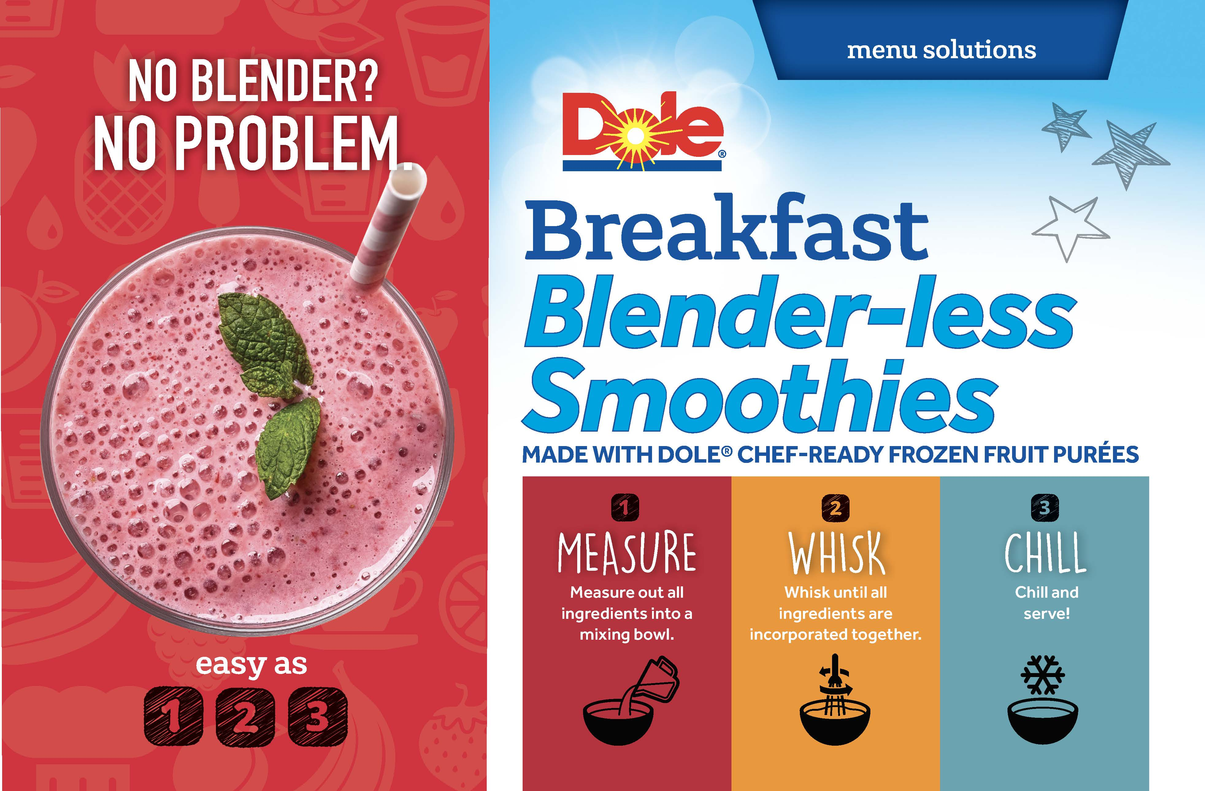 Dole breakfast blenderless smoothie page 1 a8sga3