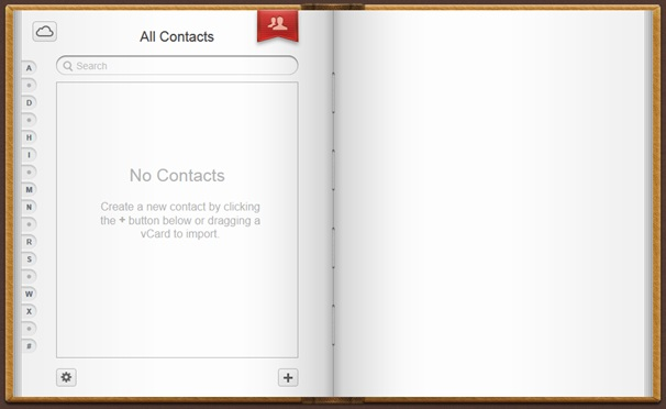 iCloud Empty Contacts Screenshot