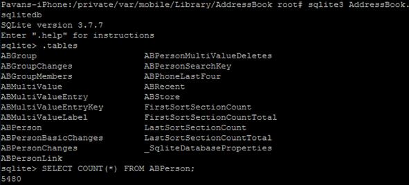 SQLite3 Console STartup