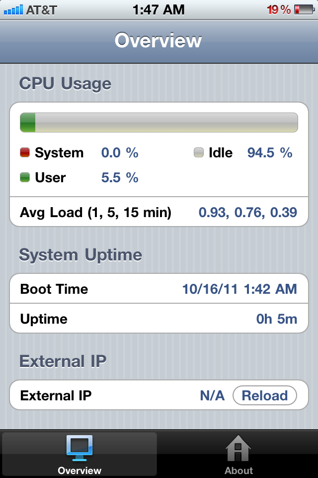 Example iPhone Load Screen