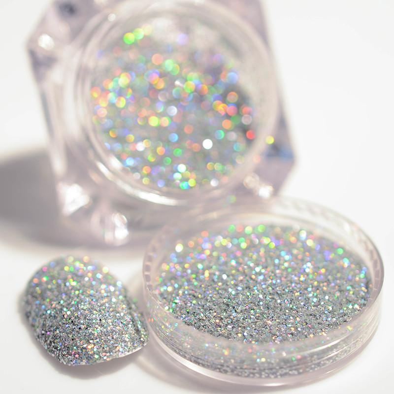 Glitter powder for nails