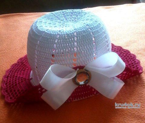 Вязание крючком панамки для девочки