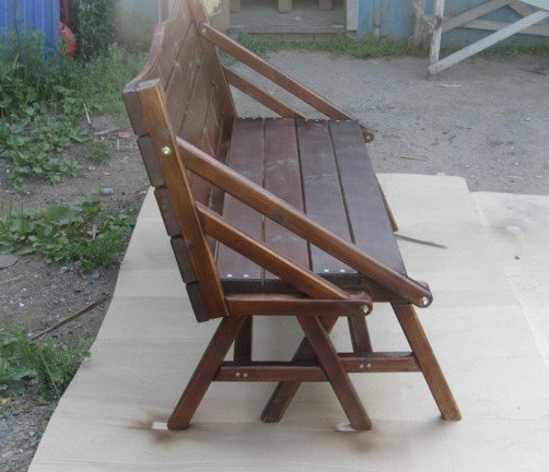 Чертеж скамейки трансформера из дерева