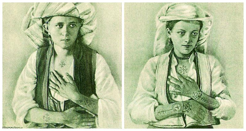 Женские славянские татуировки