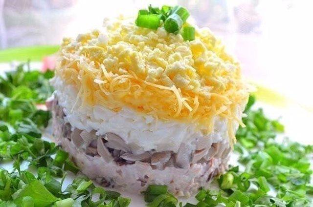Шуба салат с грибами
