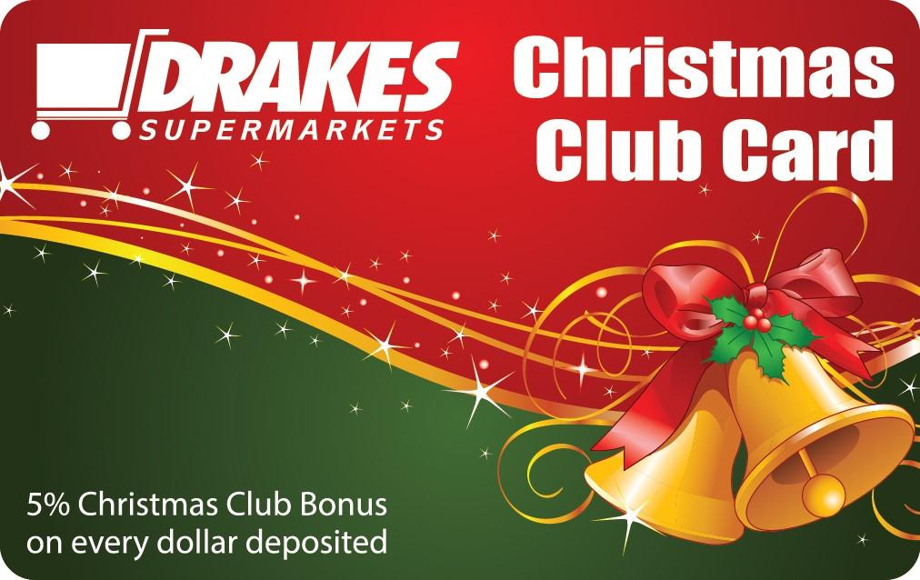 Drake foodland christmas club card