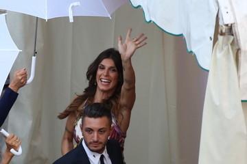 Elisabetta Canalis Elisabetta Canalis Goes to a Wedding