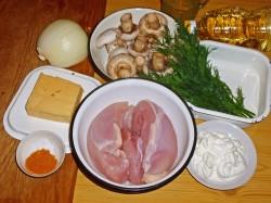 Как приготовить куриное филе в духовке с грибами и сыром