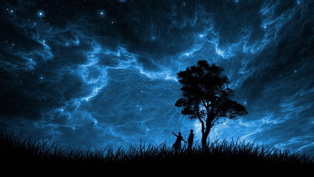 Звездное небо пара