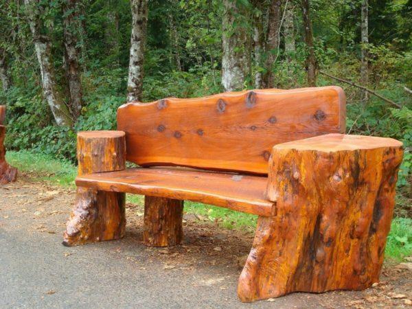 Садовые скамейки и столы своими руками фото