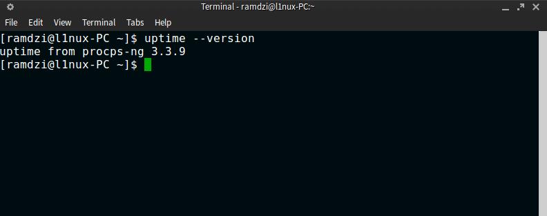 uptime linux