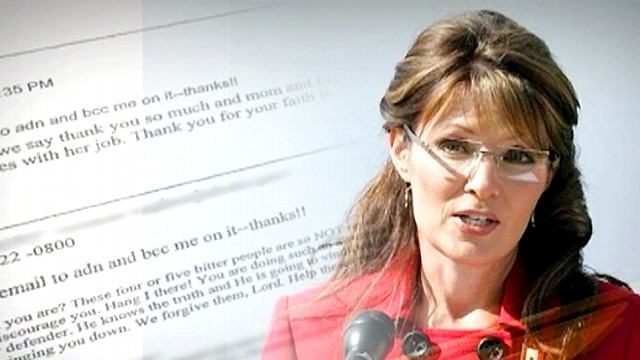 Sarah palin released emails