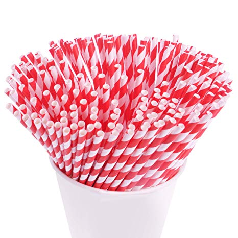 Pink striped straws party city