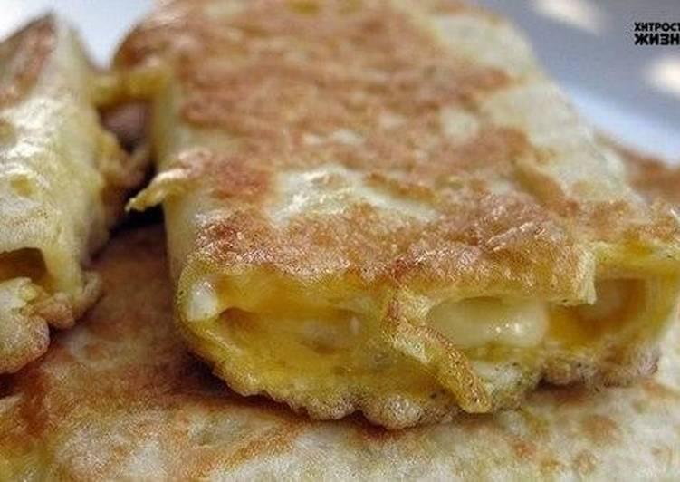 Лаваш с зеленью и сыром на сковороде рецепт с фото
