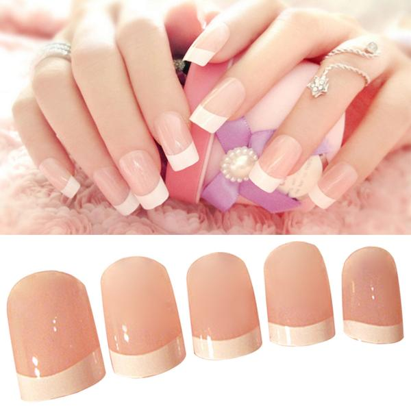 Glue manicure nails
