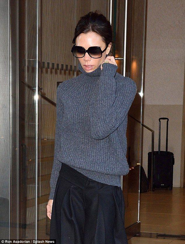 Victoria beckham grey jumper