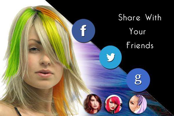 Приложения поменять цвет волос