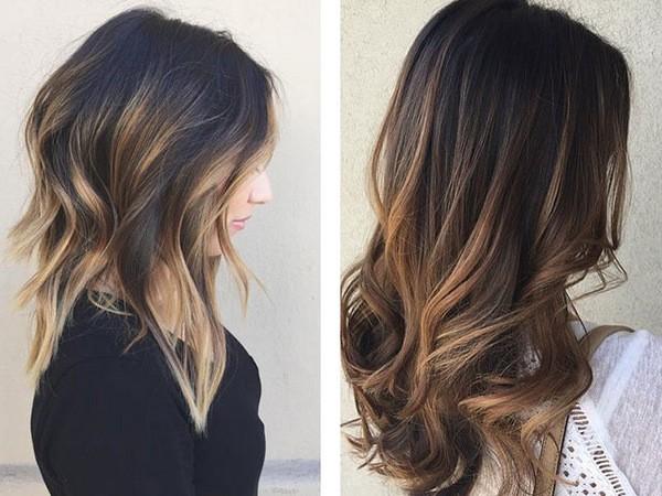 покраска волос в стиле шатуш