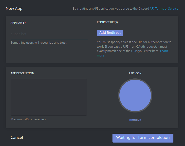 Demmeh how to make and host a discord bot part i after giving it a name finish the form next click on create a bot user ccuart Gallery