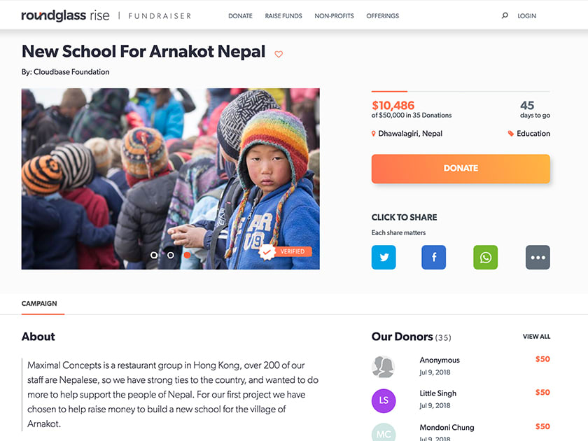 All-in-one Online Fundraising