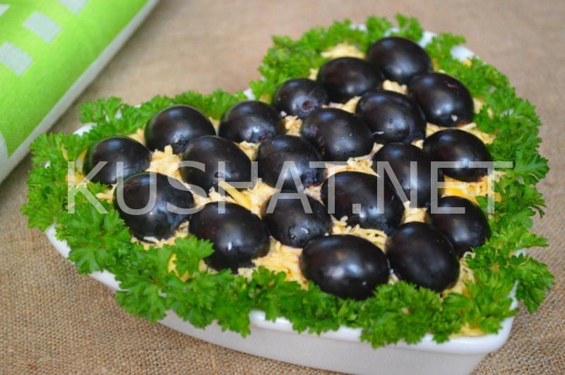 17_салат Тиффани с курицей и виноградом