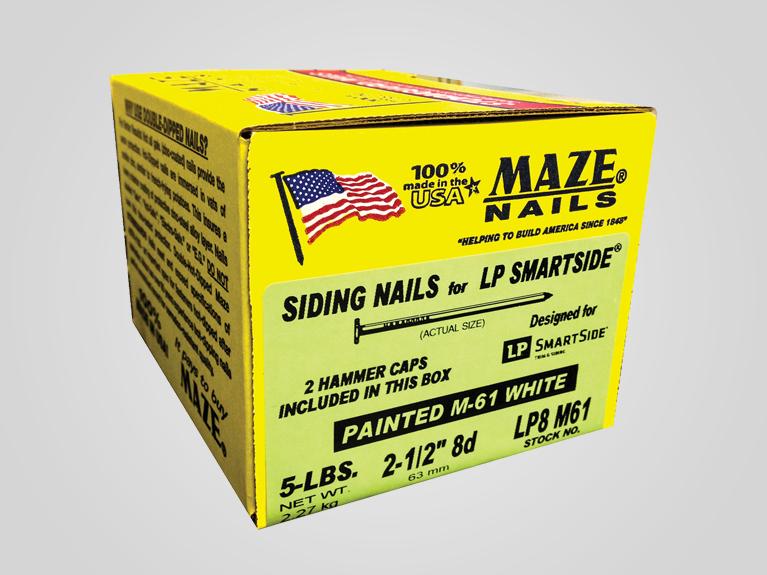 Maze siding nails