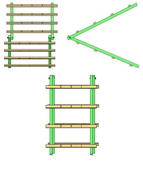 Схема шпалеры