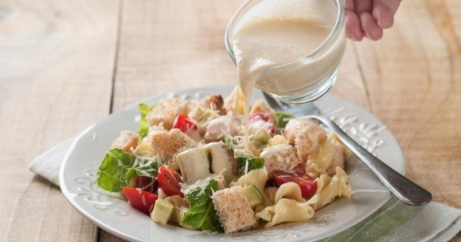 Вкусная заправка для салата цезарь