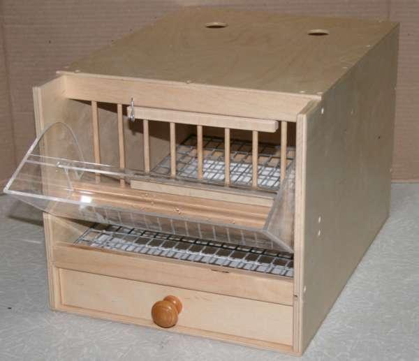 Клетка для перепелов из ящика