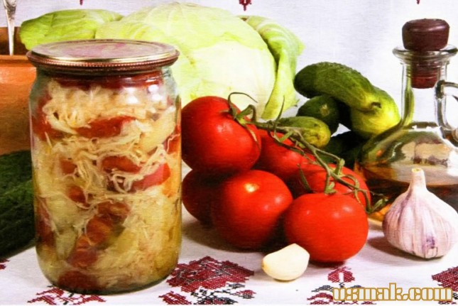 Салат на зиму из капусты и огурца