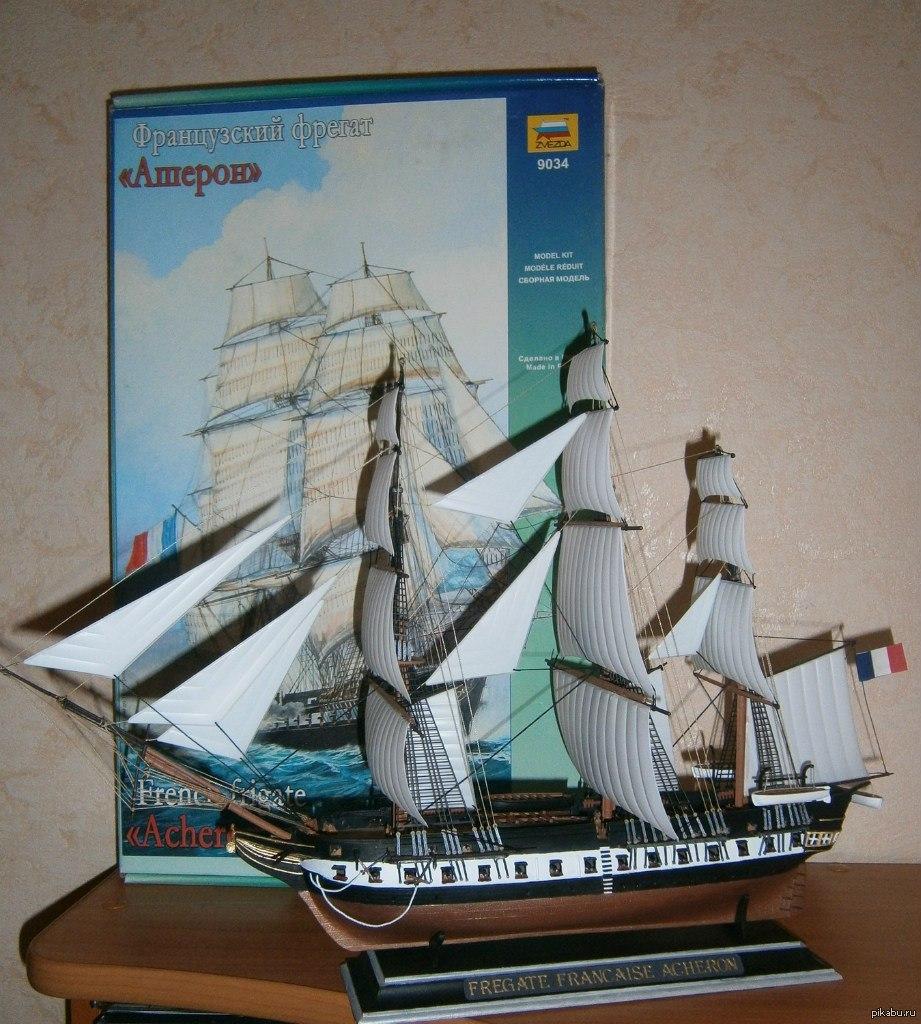 Модель французского фрегат