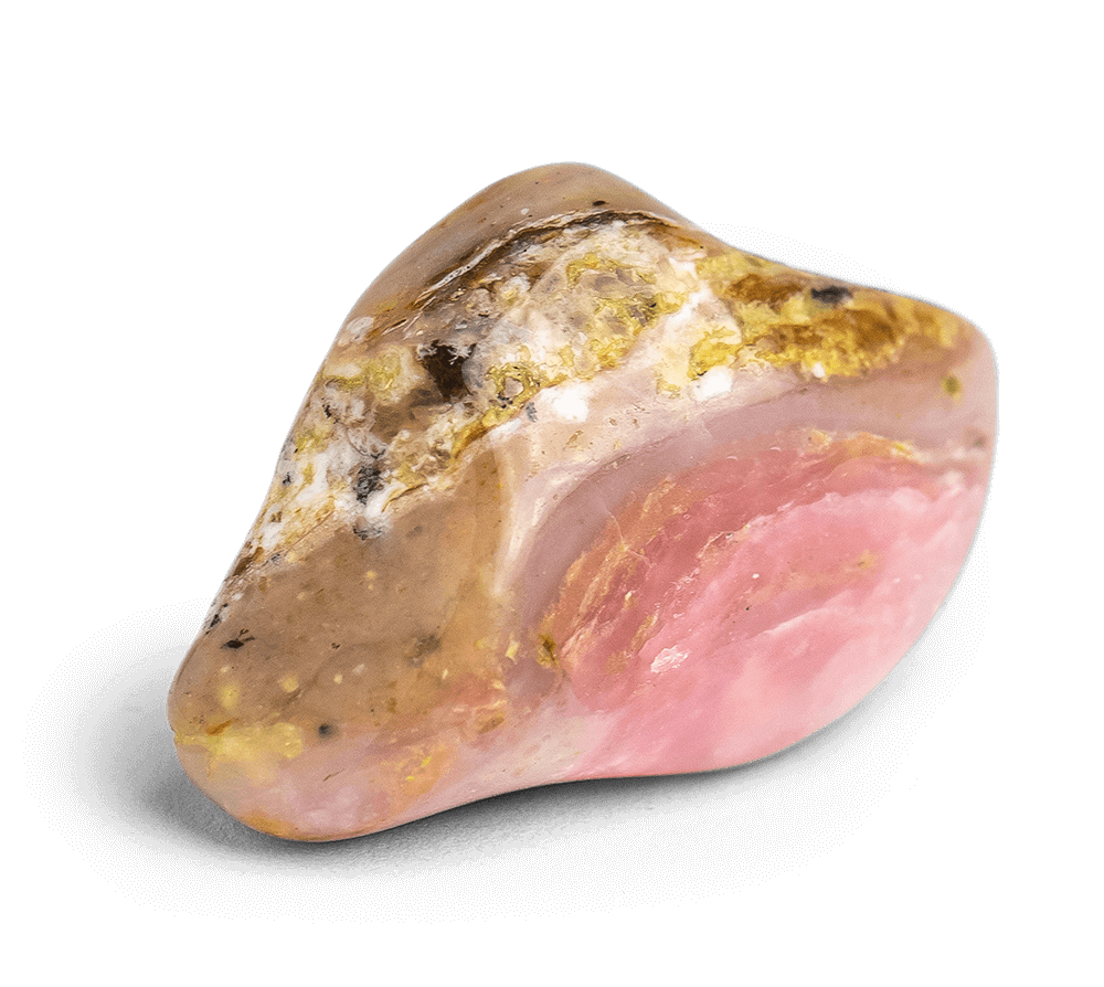 Opal ring with pink stones
